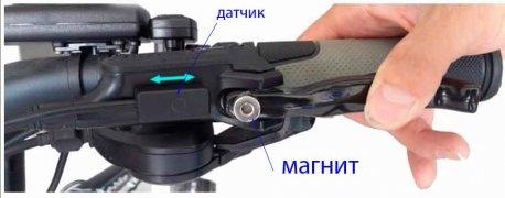 Датчик срабатывания для моноблока и гидравлического тормоза