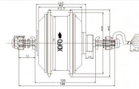 габаритный чертеж двигателя XOFO