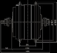 двухскоростной мотор 48 В 350 Вт габаритные размеры