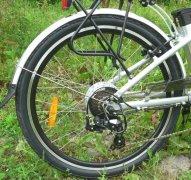 двигатель 350 Вт установленный в заднее колесо велосипеда
