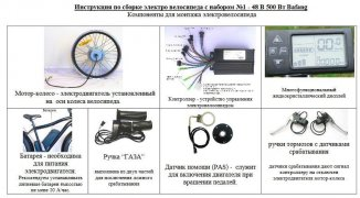 необходимые компоненты для сборки велосипеда