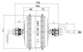 супер легкий мотор 48B 250 Вт