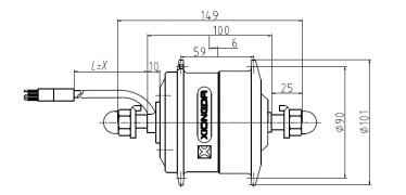 двигатель для переднего колеса