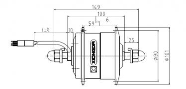 YTW-06R для переднего колеса - габариты