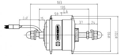 YTW-06R для заднего колеса - габариты