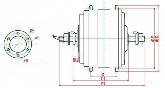 габаритный чертеж двухскоростного двигателя