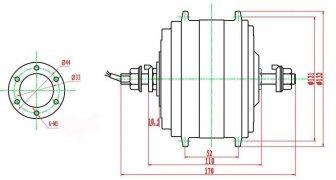 Габаритный чертеж двигателя